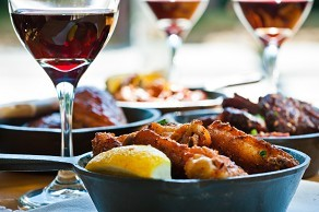 A BBQ isn't just about sausages and burgers... think WINE!  Image